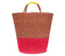 contrast panel bucket bag
