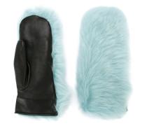 Handschuhe mit Shearling-Besatz