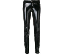 contrast skinny trousers