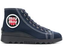 High-Top-Sneakers mit Logo-Stickerei