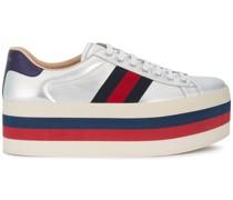 Flatform-Sneakers mit Webstreifen
