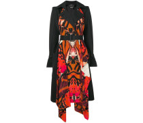 butterfly print trench coat