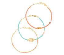 18kt vergoldetes 'Wave Chaser' Armband-Set