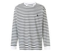 lightweight striped sweatshirt
