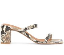 'Tanya' Sandalen mit Schlangenleder-Print