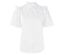 frilled polka dot shirt