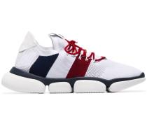 Netz-Sneakers mit breiter Sohle