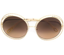 oversized wired frame sunglasses