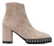 round studs ankle boots