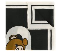 Wollschal mit Teddy-Bären-Motiv
