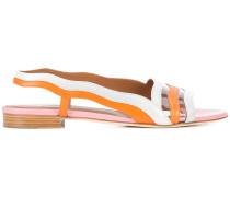 striped slingback sandals