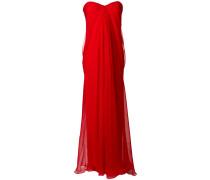 draped bustier evening dress
