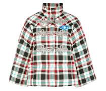 crystal-embellished puffer jacket