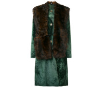 'Lust' Mantel mit Pelz