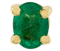 18kt gold and emerald stud earring