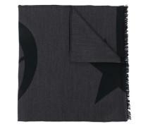 frayed logo scarf