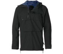 zipped neck hoodie