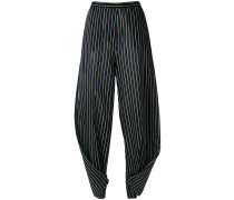 striped twisted trousers