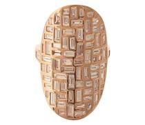18kt 'Mosaic' Rotgoldring mit Diamanten