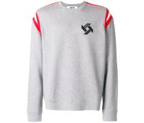 Sweatshirt mit gestrickten Details