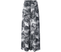 Hose mit Palmen-Print