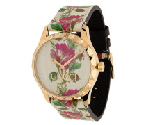 Armbanduhr mit Rose-Print