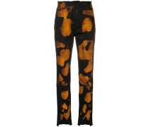 Jeans mit Bleach-Print