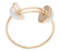 18kt Goldring mit Perlen