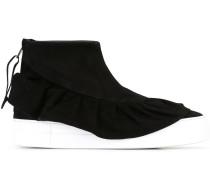 High-Top-Sneakers mit Rüsche