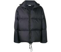 hooded padded short coat