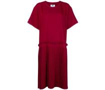 pleated panel dress