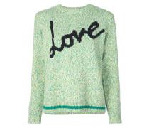 'Love' Intarsien-Pullover