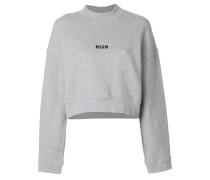 branded crop sweatshirt