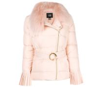 racoon fur padded coat