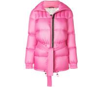 trimmed puffer jacket