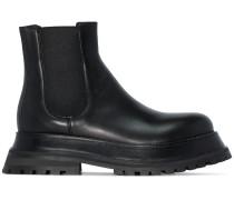 Chelsea-Boots mit Plateau