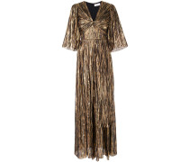 Gestreifte Metallic-Robe