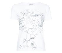 embroidered mushroom T-shirt
