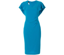 fitted flared sleeve dress
