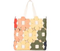 Eartha hex floral tote bag
