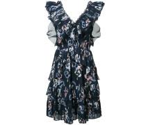 Florales Kleid mit gerüschten Details