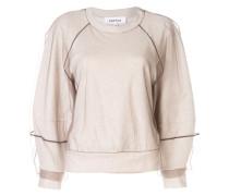 Sweatshirt mit Tüll-Overlay
