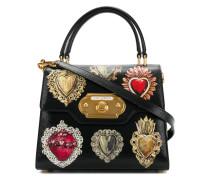 heart embellished mini bag