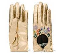floral embroidered gloves