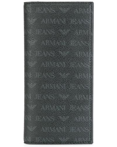 Jacquard-Kartenetui mit Logo-Prints
