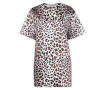 T-Shirtkleid mit Leoparden-Print