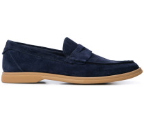 contrast sole loafers