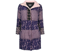 broderie anglaise padded coat