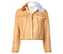colour contrast trimmed jacket