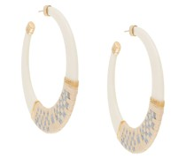 Lodge raffia hoop earrings